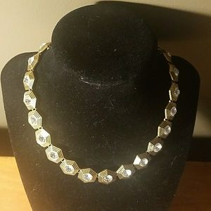 Gold Chain with Hexagon Design